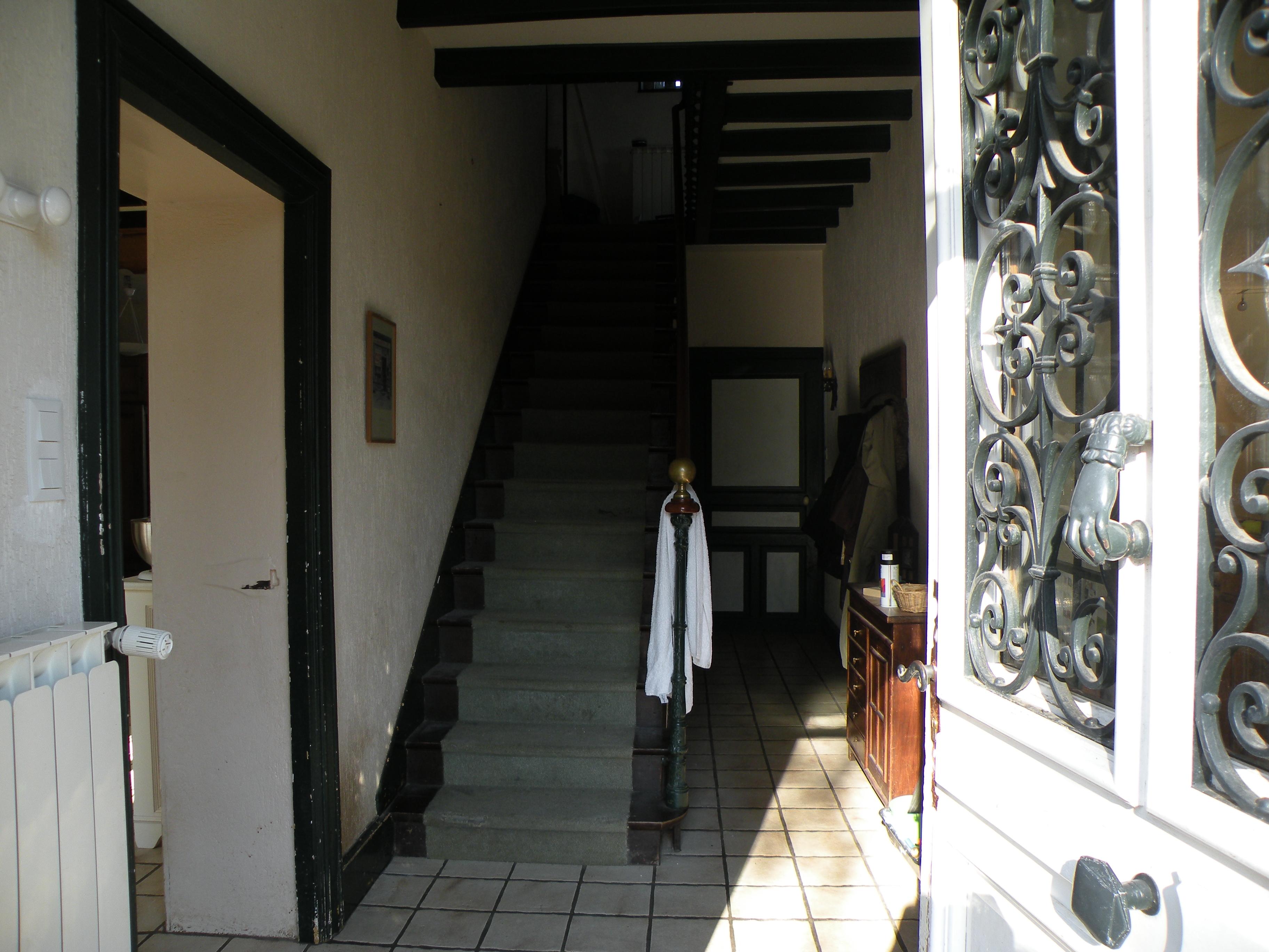 Ent large for Couloir peinture bicolore