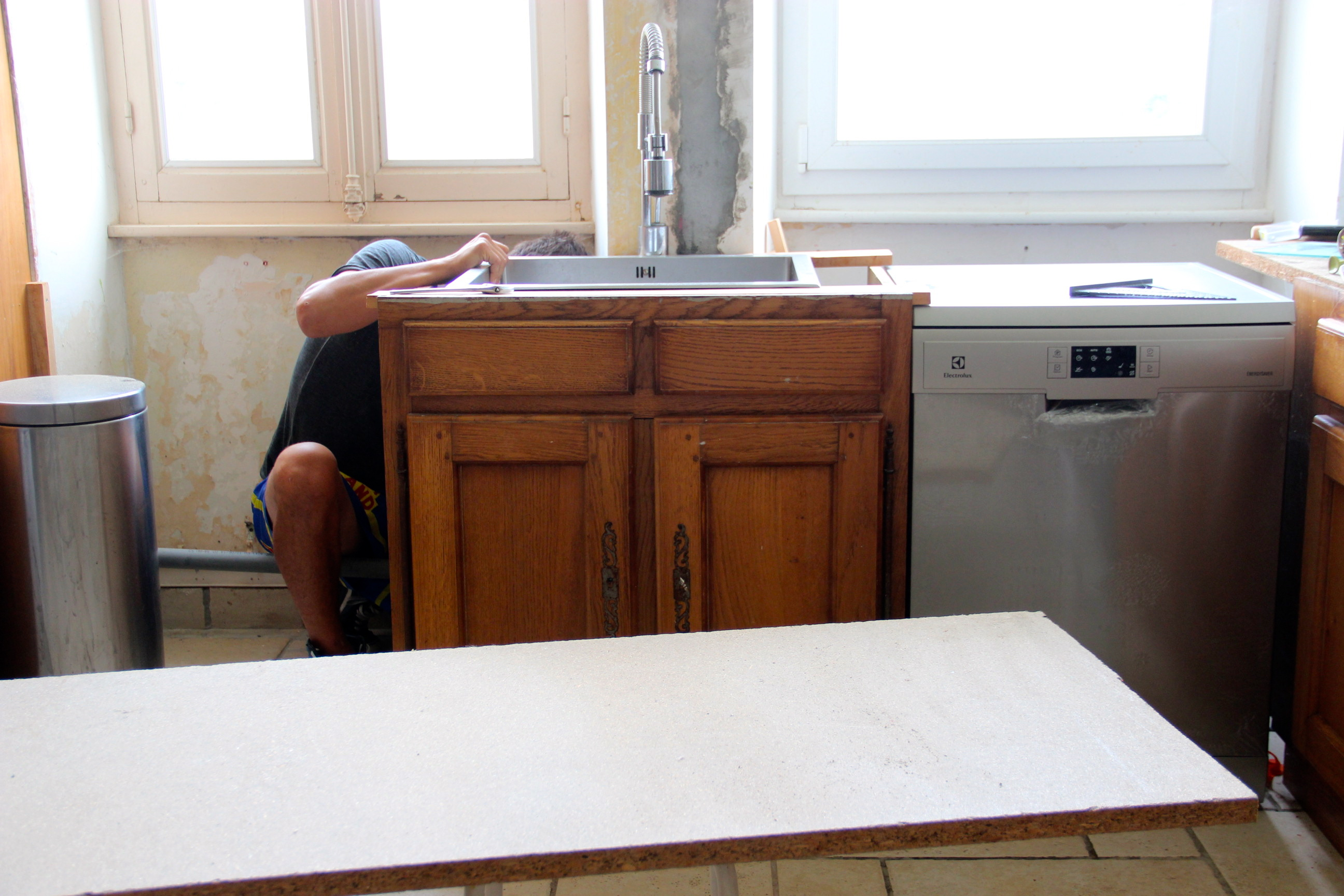 Un bon plan de travail - Meuble cuisine a poser sur plan de travail ...